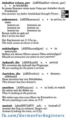 German For Beginners: 7