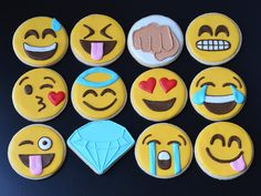Order your customized sugar cookies for any occasion! These adorable Emojis are very trendy and great for all ages. They make the perfect
