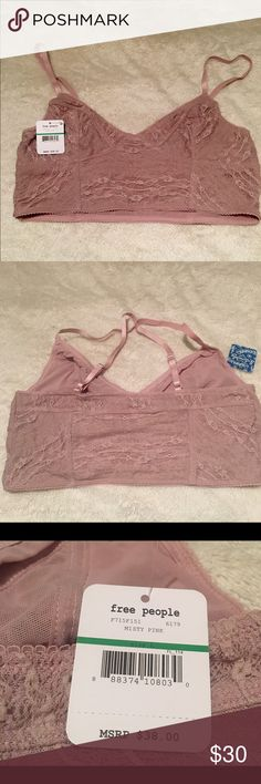 Free People Bralette NWT Blush colored Free People bralette Free People Intimates & Sleepwear Bras