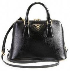 1138a1985d39 Prada Vernice Small Round Top Cross Body Alma Shell Nero Black Saffiano  Leather Shoulder Bag off retail