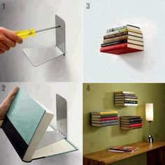 hidden bookshelves!