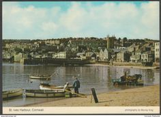 The Harbour, St Ives, Cornwall, 1980 - Murray King Postcard