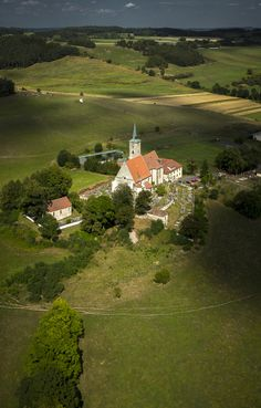 """Alba Ecclesiae"", today the church of the Assumption of Holy Virgin Mary, Nezamyslice (South-West Bohemia), Czechia Beautiful Places In The World, Beautiful Scenery, Sacred Architecture, Magical Forest, European Countries, Iglesias, Fairy Land, Virgin Mary, Eastern Europe"