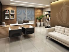 Escritório de Advocacia Office Interiors, Office Interior Design, Office Designs, Home Office, Home Desk, Office Table, Small Office, Office Decor, Lawyer Office