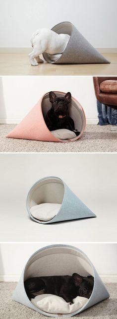 Design eco-friendly per #pet lovers!  Cucce per gatti (e per cani) con un occhio… (Diy Dog Stuff)