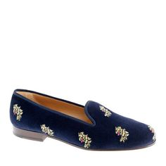 I know it's kinda dorky, but I like these shoes! Stubbs & Wootton® for J.Crew classic velvet slippers