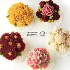 ricecake flower cupcakes
