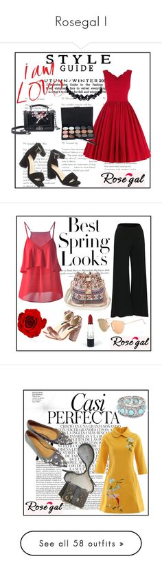 """Rosegal I"" by sselma ❤ liked on Polyvore featuring vintage, H&M, Whiteley, Tiffany & Co., The French Bee, Élitis, Mud Pie, Lumière, Casetify and Alexander McQueen"