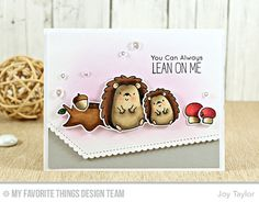 Happy Hedgehogs Stamp Set and Die-namics, Stitched Scallop Basic Edges Die-namics - Joy Taylor #mftstamps