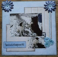 Scrapbook layout Wintertime
