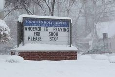 Sign near Buffalo NY during our very short Blizzard of 2014.