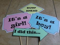 DIY Photo booth props for baby shower