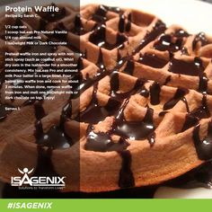 Treat your family to an extra dose of protein and nutrients this morning with this mouth-watering protein waffle!