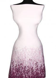 Úplet Pena Scuba /neoprén/ up429 bordúra fialový kvet