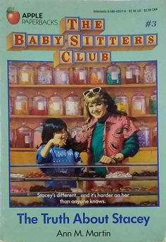 The Babysitters Club The Truth About Stacey by Ann M. Martin used paperback 90s Childhood, My Childhood Memories, Babysitters Club Books, Good Books, My Books, The Baby Sitters Club, Postcard Book, Family Feud, Saturday Morning Cartoons
