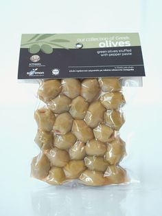 AGRIMON Green Olives Stuffed with Red Pepper 250gr