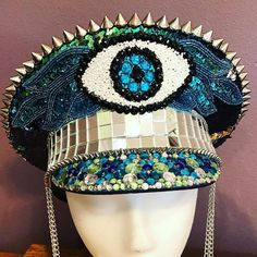 Hey, I found this really awesome Etsy listing at https://www.etsy.com/listing/475294122/mermaid-fantasies-captains-hat-military