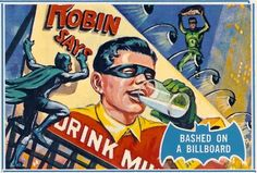 SILVER AGE SHINDIG1966 THE YEAR OF THE BATVisions Of Topps Batman Trading CardsCirca 1966Bashed On A Billboard