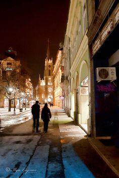 Winter in Novi Sad, Serbia