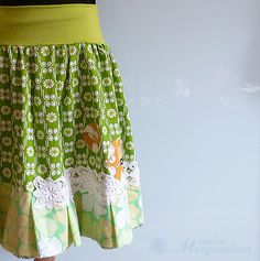 skirt wiesen.grn handmade by mein Morgenstern#Repin By:Pinterest++ for iPad#