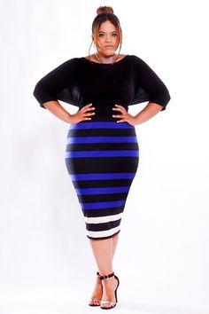 8ec2c98420181 JIBRI Plus Size High Waist Pencil Skirt by jibrionline High Waisted Pencil  Skirt