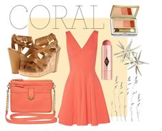 """Coral."" by jeehewson ❤ liked on Polyvore featuring Opening Ceremony, Dolce Vita, Jack Rogers, Estée Lauder, Charlotte Tilbury, Dot & Bo, women's clothing, women, female and woman"