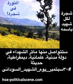 #Sudanese_Martyrs_Tree: A tree for every martyr maintains the values of national sacrifices, honour the martyrs & their families and support them.