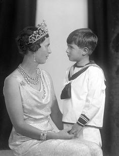Princess Olga of Yugoslavia, née of Greece and Denmark, with her son Prince Nikola of Yugoslavia