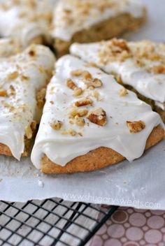 Cream Cheese Frosted Banana Nut Scones