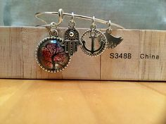 Items similar to Tree of Life charm bracelet on Etsy Etsy Jewelry, Unique Jewelry, My Etsy Shop, Crafty, Trending Outfits, Bracelets, Handmade Gifts, Silver, Red