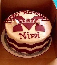 Mississippi state, chevron birthday cake