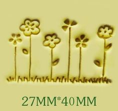 Free shipping six little flower pattern Mini diy soap stamp chaprter seal 2.6*4cm #Affiliate