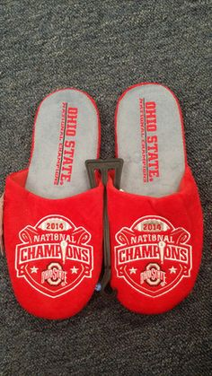 662f5eb4bf6d Ohio State Official NCAA 2014 National Champions Men s Slippers Men s  Slippers