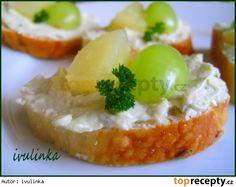 Hermelínová pomazánka s tvarohem Baked Potato, Camembert Cheese, Mashed Potatoes, Recipies, Food And Drink, Treats, Baking, Ethnic Recipes, Fit