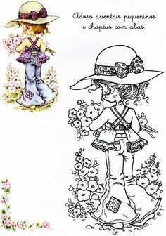 Sarah Kay to colour in Sarah Key, Sara Key Imagenes, Beard Art, Hobby Lobby Christmas, Holly Hobbie, Illustration, Coloring Book Pages, Digi Stamps, Copics