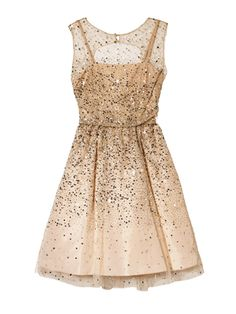 Glitter Party Dress / Alice + Olivia - fun new years dress....cute black tights, gold pumps or booties which ever.