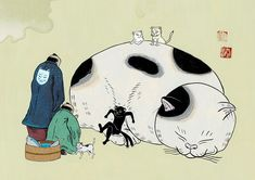 後悔 #illustration #イラスト #動物 #絵 #和風 #猫