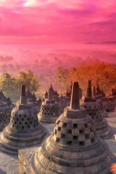 View of City at Pink Sunrise, Java, Indonesia | A 1 Nice Blog
