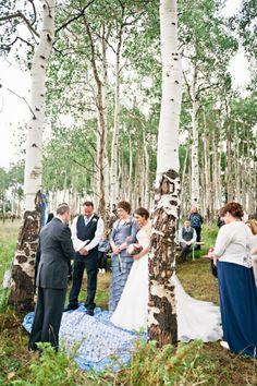 Trapper's Cabin in Beaver Creek, CO.  Wedding planning & coordination by www.CustomWeddingsofColorado.com