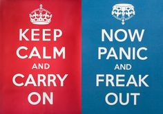 "I didn't know the origin of the ""keep calm and carry on"" slogan...after a little research, thanks Wikipedia, I did a little more surfing and found some spoofs.  I liked this one a lot, although Keep Calm and Drink Beer also spoke to me :)"