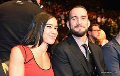 CM Punk and AJ Lee attending UFC 182 in Las Vegas on January 3rd