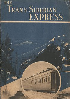 Vintage Railway Travel Poster - The Trans-Siberian Express - Stalin's Soviet Union Tourism Advertisements for Foreigners in Train Posters, Railway Posters, Train Map, Train Travel, Vintage Travel Posters, Vintage Ads, Vintage Ephemera, Orient Express Train, Locomotive