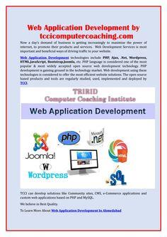 Web application development by tccicomputercoaching com