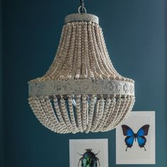 Image result for beaded and shell chandeliers