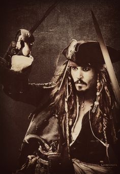 Captain Jack Sparrow - favorite character in all of the Pirates of the Caribbean movies