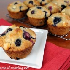 Blueberry White Choc Chip Muffins