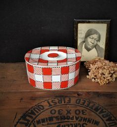Vintage refrigerator dish. Marked CHECKERS JAPAN 17 on the bottom by Misinterpreted on etsy