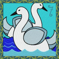 Seven Swans a-swimming.