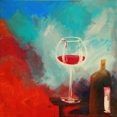 """red wine"", Acryl auf Leinwand"