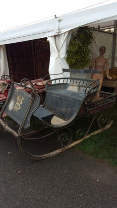 A WONDERFUL SLEIGH spotted for sale at Newark Christmas Antique fair